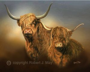 Original Highland Cattle Painting